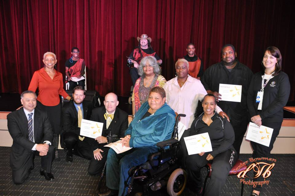 Group photo of SHOWAbility Supporters at The Shepherd Center for Voices Enabled Ensemble (VEE) Kickoff Concert.