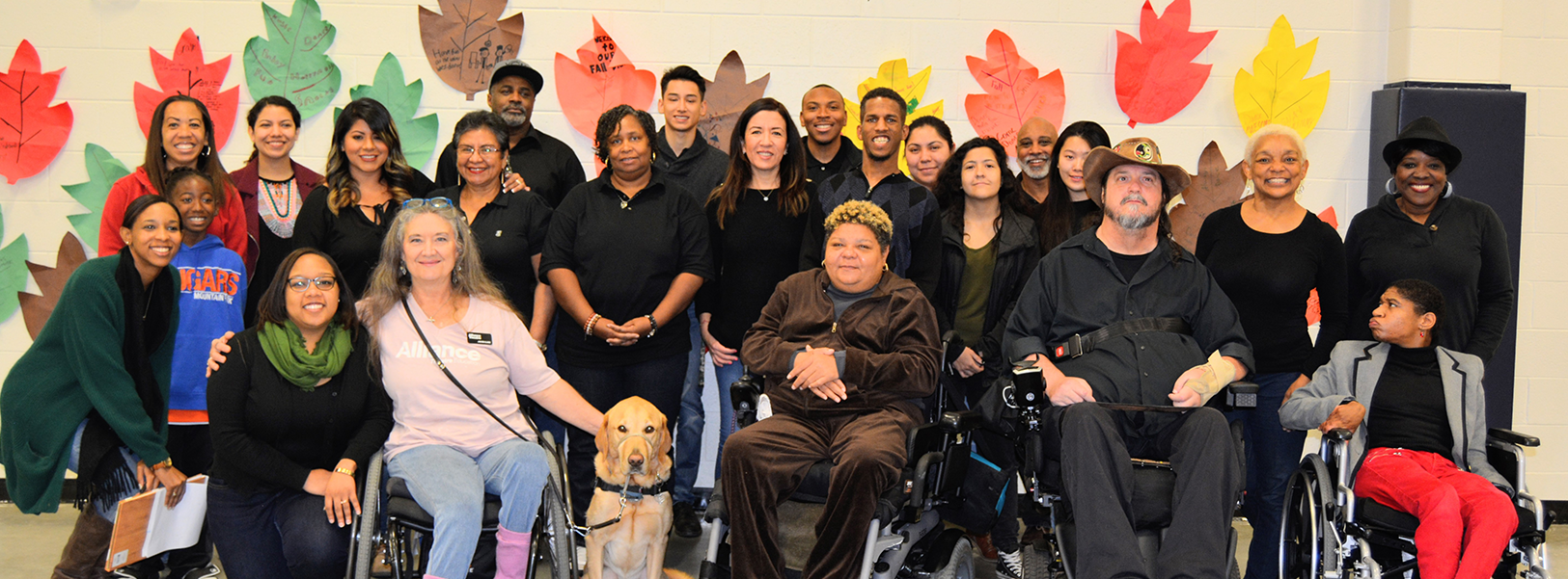 Our members and volunteers at the Disability Awareness Career Day in 2018