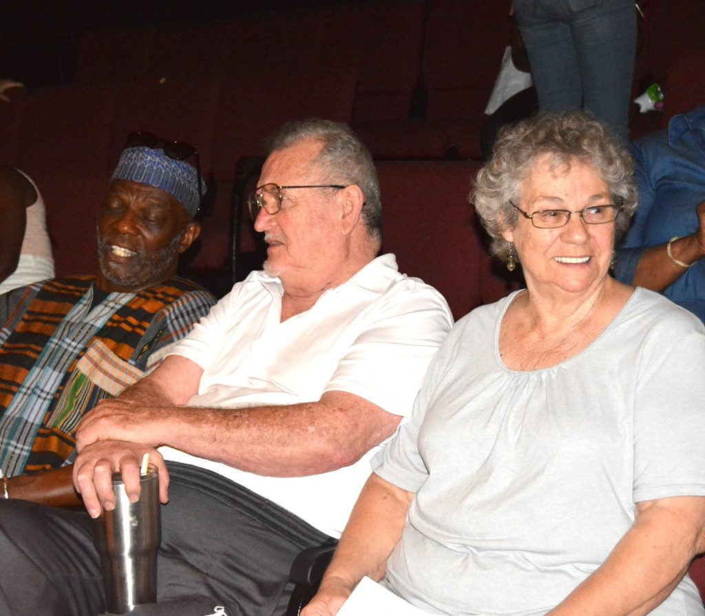 Photo of former Board Member Jibri Rahman with Bob and Pat Taylor (Rusty's parents) enjoying the SHOWAbility concert.