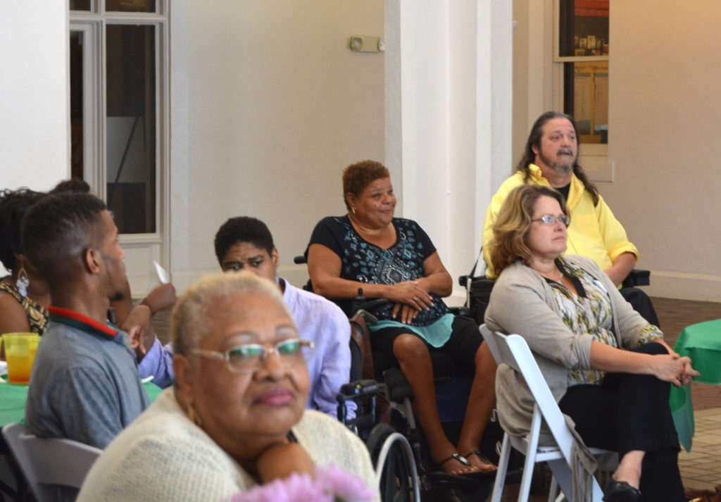 Audience photo from SHOWAbility's Community Meet & Greet at Callanwolde Fine Arts Center.