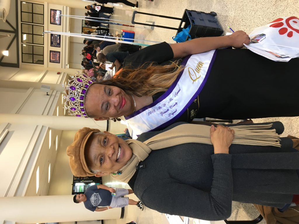 SHOWAbility Executive Director Myrna Clayton pictured with a young lady crowned Miss Special Needs of Gwinnett County.